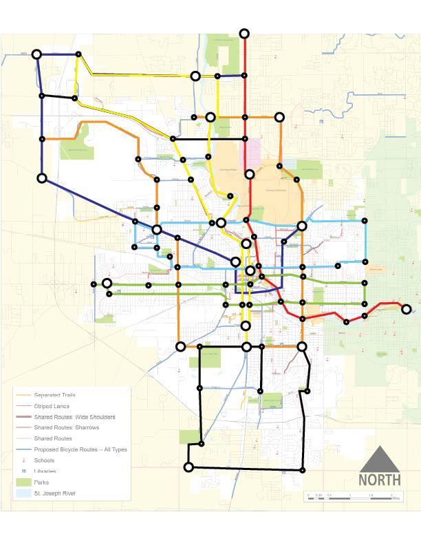 SB Bikeway Subway Map